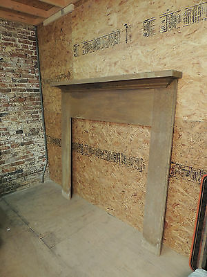 Antique 19c American Grain Painted Fireplace Mantel - Pine & Square Nail VR