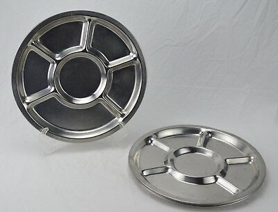 Vintage Lot of 4 Stainless Steel American Permanent Ware AP-215 Divided Tray NSF