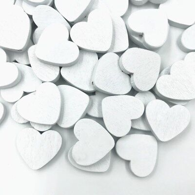 DIY 50PCS Wood Heart shape Beads Spacer Wood Beads Pacifier clip White 24x21mm