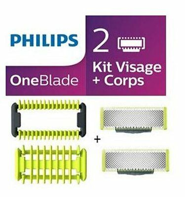 PHILIPS OneBlade Kit 2 lames (+ protection, sabot corps)  QP620 /50  NEUF FRANCE