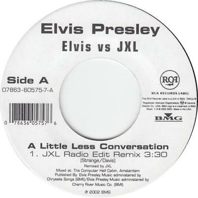 "Elvis Presley A Little Less Conversation 7"" vinyl single record USA"