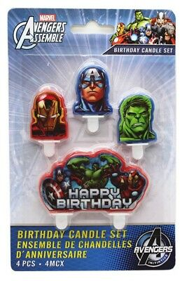 4 Piece The Avengers Cake Candle Set Birthday Party Supplier Decoration