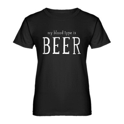 Womens My Blood Type is Beer Short Sleeve T-shirt #3808