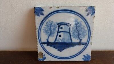 Antique Lille or Delft Tile. Ancien carreau carrelage.......K