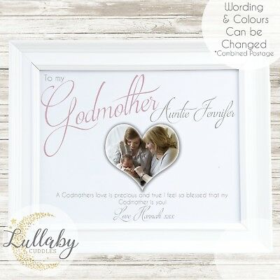 Personalised Thank You For Being My Godparent/Godmother/Godfather Print 8x6 Inch