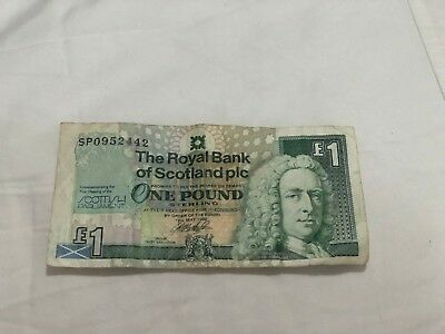 1999 Commemorative Issue Bank of Scotland 1 Pound Note