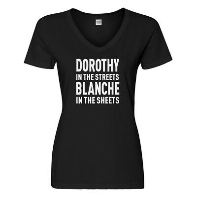 Womens Dorothy in the Streets V-Neck T-shirt #3080