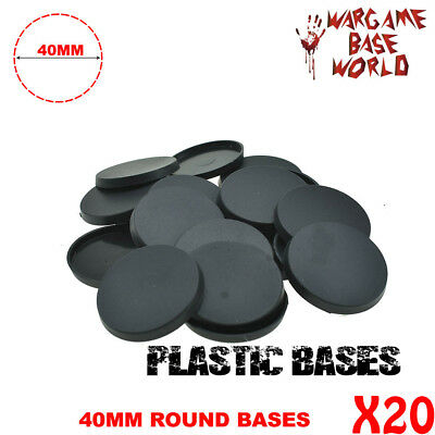 20PCS 40mm plastic round bases Model Gaming Miniatures for wargames Figues