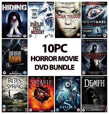 Movie Mania Binge Fest 10PC Horror DVD Bundle - Assorted Titles Rated 12-18+yrs
