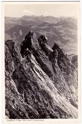 Three Sisters Mountain, border of Austria and Liechtenstein - RP Postcard