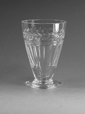 "STUART Crystal - ARUNDEL Cut - Footed Juice Tumbler Glass / Glasses - 4"" (1st)"