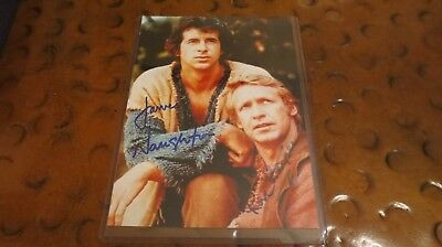 James Naughton  Ron Harper signed autographed photo Planet of the Apes TV Series