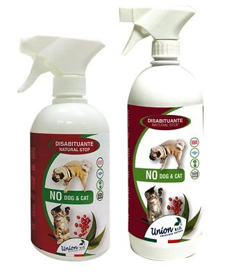 NO DOG E CAT DISABITUANTE Natural Stop con oli essenziali naturali Union Bio