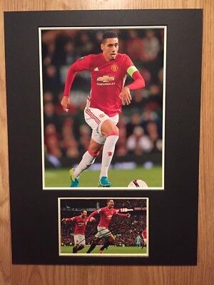 Chris Smalling Signed Man Utd 16x12 Mount Display Autograph With COA