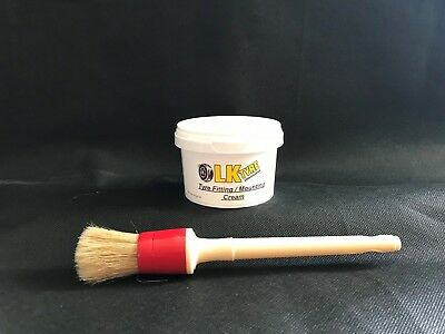 Small Pot Of Tyre Fitting Cream  & Brush - Premium Lub/Paste/Soap Tyre Changer