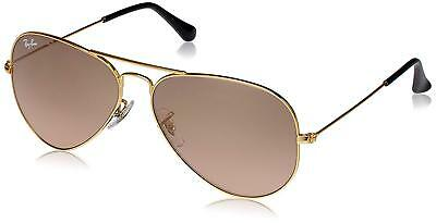 Ray-Ban RB3025 001 3E Aviator Gold Frame Silver Pink Mirror 58mm Lens 14a875a39f59