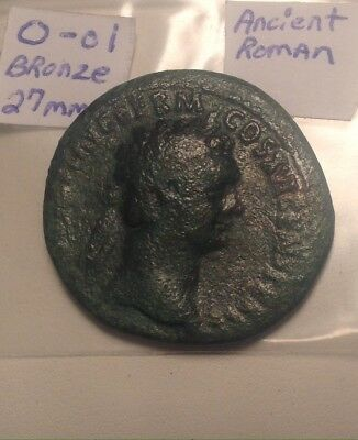 Ancient Roman Big&Thick Bronze 27mm Coin. Nice Detail For A Large Coin Like This