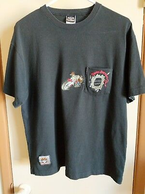 Harley Davidson Warner Brothers Taz Pocket T-Shirt Black Size Medium