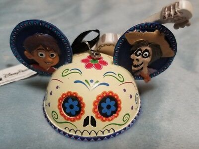 Disney Parks CoCo Mickey Ears Hat Ornament Hand Painted NEW ITEM!