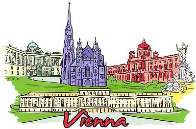 Art Postcard, Vienna, Austria, Landmarks, City, View, Travel 91H