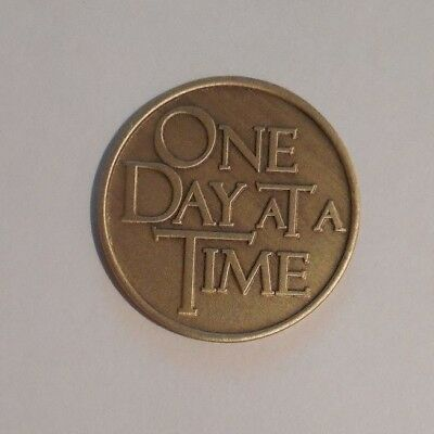 Aa Coin Bronze Alcoholics Anonymous Odat One Day At A Time Token Medallion New