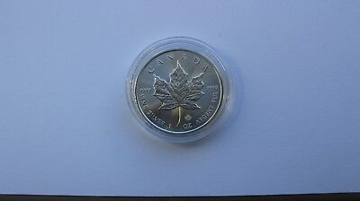 2016 Silver 1 oz Canadian Maple Leaf Fine 9999 $5 Five Dollars Coin/Bullion