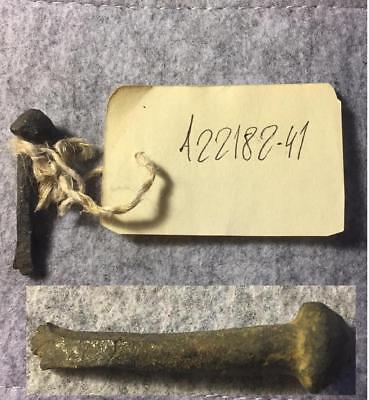 VIKING BURIAL SHIP NAIL found in NORWAY-900-1000 A.D. VERY RARE