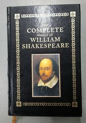 The Complete Works of William Shakespeare - leather-bound - VG+ - ships in a box