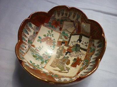 Japanese Satsumaware dish. Early 20th century. 12cm width.