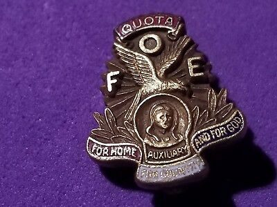 FRATERNAL ORDER EAGLES - Quota Aerie FOE Vintage PIN -  9.99  9f0c2426a0e3