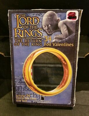 The LORD of the RINGS - RETURN of the KING  30 Foil Valentine Cards & Seals 2003
