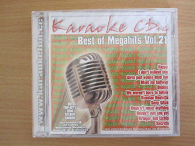 Best of Megahits Vol. 21, intern. Top-Hits, Karaoke CD+G mit Chören und Texten