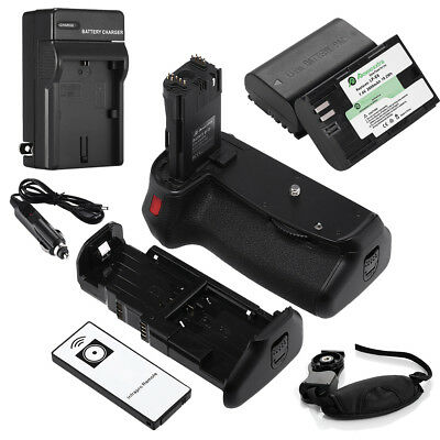BG-E14 Battery Grip For Canon EOS 70D 80 + 2 LP-E6 Batteries + Charger + Remote