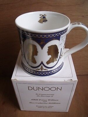 Dunoon Mug Royal Wedding Marriage William and Catherine Boxed Free UK Post