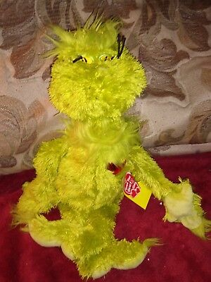 """Dr Suess How The Grinch Stole Christmas 15"""" Plush Grinch Doll Light Up Heart New"""