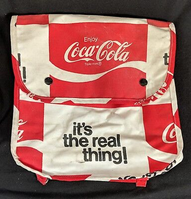 Vintage 1970s Coca Cola It's The Real Thing Coke Backpack 02