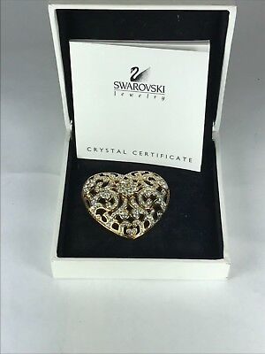 Swarovski Crystal Large Heart Pin/Brooch Jeweler's Collection