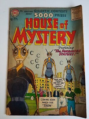"""House Of Mystery #53 DC Comics """"The Forbidden Statues"""""""