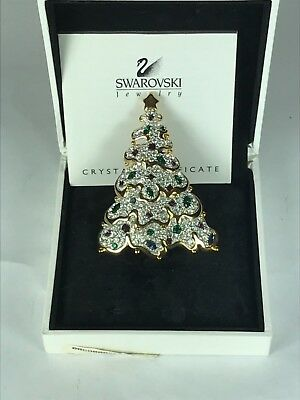 Swarovski Crystal Large Christmas Tree Pin/Brooch Jeweler's Collection