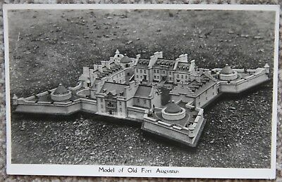 Model of Old Fort Augustus - Loch Ness - Vintage Photographic Postcard Scotland