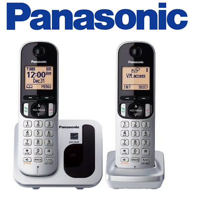 Panasonic KXTGC212S Expandable Digital Phone with 2 Cordless Handsets