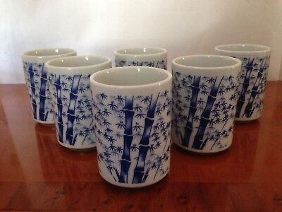 Six Japanese Tea Cups. Japan Art collection By Take London