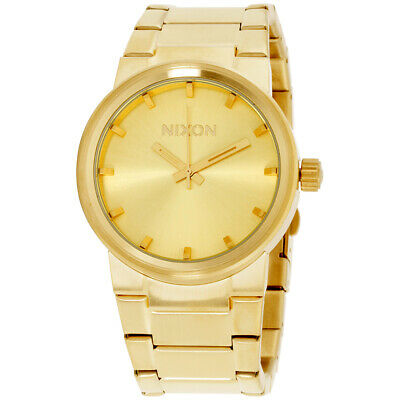 Nixon Cannon Gold Dial Stainless Steel Men's Watch A16050200