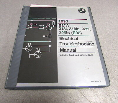 bmw 325 325i 325is electrical troubleshooting manual 1988