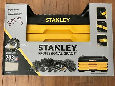 Brand New - Stanley Socket Set, 203-Pc - Professional Grade