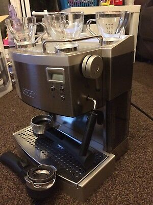 delonghi espresso cappuccino machine maker EC730 stainless steel with cup warmer