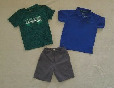 Lot of 4T Under Armour golf shorts, Nike Polo Shirt. Excellent Condition