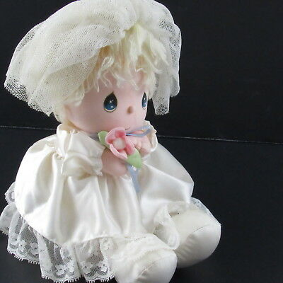 Precious Moments Musical Plush Wedding Girl Doll Bride Applause Item 4515