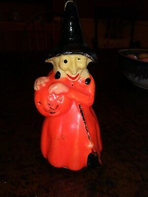 Vintage Halloween Witch JOL Gurley Wax Candle Buffalo, NY