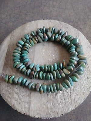 Vtg Strand 16.25 Navajo Campitos Bisbee Green Turquoise Beads Jewelry Making